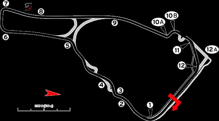 Road Atlanta Track Map