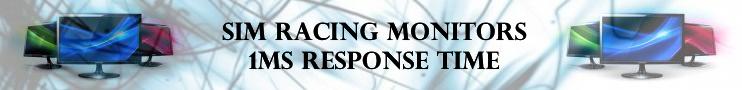Sim racing monitors 1ms response time